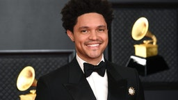 LOS ANGELES, CALIFORNIA - MARCH 14: Trevor Noah attends the 63rd Annual GRAMMY Awards at Los Angeles Convention Center on March 14, 2021 in Los Angeles, California.