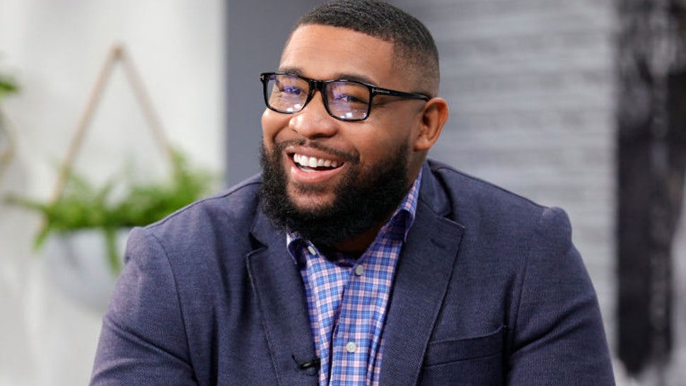"""Former police officer Brandon Tatum is seen on set during a taping of """"Candace"""" on March 17, 2021 in Nashville, Tennessee"""