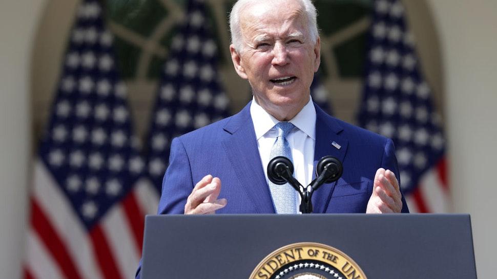U.S. President Joe Biden speaks during an event on gun control in the Rose Garden at the White House April 8, 2021 in Washington, DC.