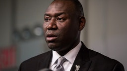 NEW YORK, NY - NOVEMBER 26: Benjamin Crump, lawyer for Michael Brown Jr's family, speaks at a press conference on the eve of Thanksgiving to pray and address the events of the last few days regarding the grand jury verdict of police officer Darren Wilson on November 26, 2014 in New York City. Wilson shot and killed Michael Brown Jr in Ferguson, MO, on August 9, 2014.