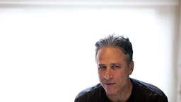 NEW YORK, NY - AUGUST 9 : Comedian Jon Stewart, host of Comedy Central's The Daily Show, works in his office on August 9, 2011 in New York. (Photo by Benjamin Lowy/Getty Images)