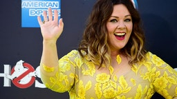 """HOLLYWOOD, CA - JULY 09: Actress Melissa McCarthy arrives at the Premiere of Sony Pictures' """"Ghostbusters"""" at TCL Chinese Theatre on July 9, 2016 in Hollywood, California. (Photo by Frazer Harrison/Getty Images)"""