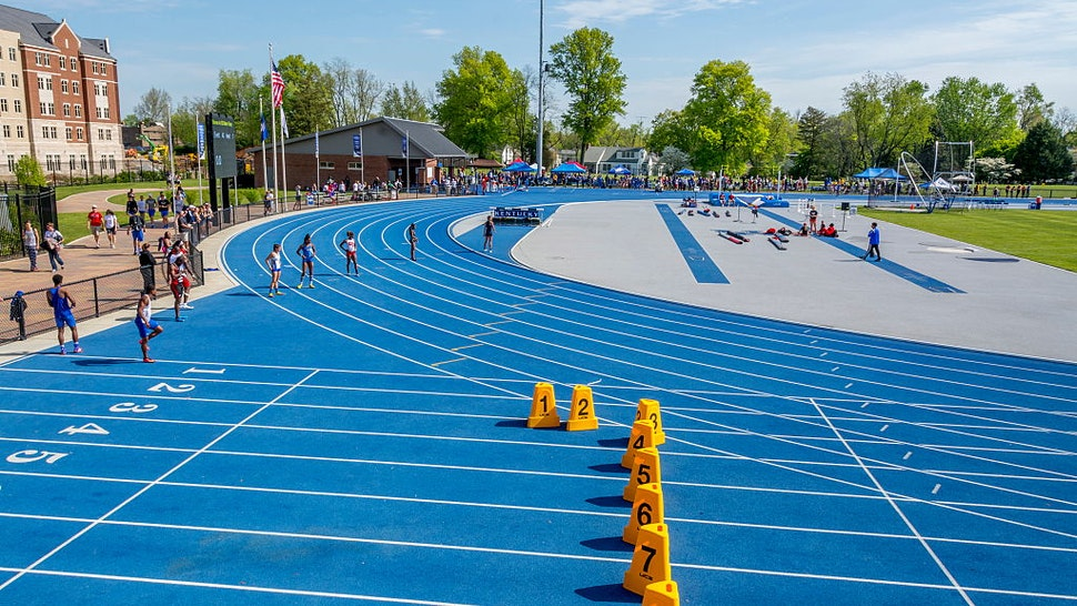 Kentucky Relays held at the University of Kentucky with outdoor track and field competitive events for high school and. (Photo by: Education Images/Universal Images Group via Getty Images)