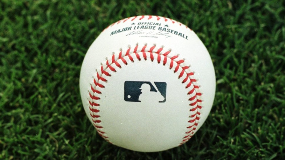 ANAHEIM - APRIL 24: A close-up picture shows one of the new Major League Baseball official game balls lying on the grass during the Detroits Tigers game against the Anaheim Angels on April 24, 2000 at Edison Field in Anaheim, California.