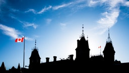 Silhouette of Canada's Parliament Buildings