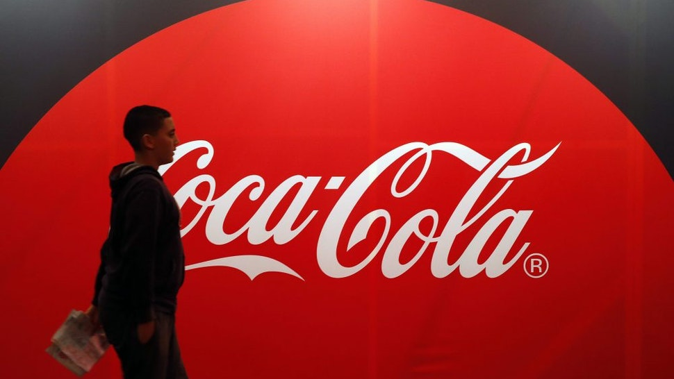 PARIS, FRANCE - NOVEMBER 01: An advertising for Coca Cola is displayed during the 'Paris Games Week' on November 01, 2017 in Paris, France. 'Paris Games Week' is an international trade fair for video games to be held from October 31 to November 5, 2017.