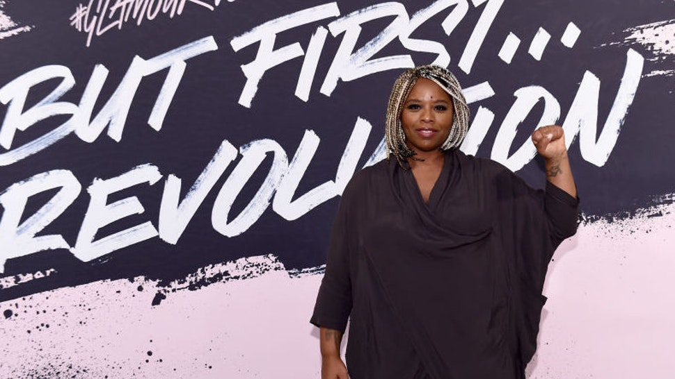 Woman of the Year 2016 and Black Lives Matter cofounder Patrisse Khan-Cullors poses during Glamour Celebrates 2017 Women Of The Year Live Summit at Brooklyn Museum on November 13, 2017 in New York City.