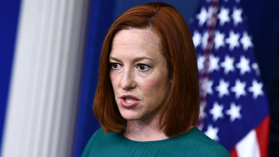 White House Press Secretary Jen Psaki speaks during the daily press briefing on April 6, 2021, in the Brady Briefing Room of the White House in Washington, DC.