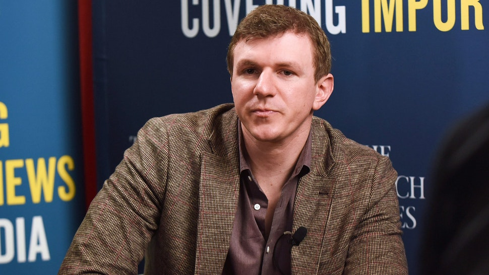 ORLANDO, FLORIDA, UNITED STATES - 2021/02/27: James OKeefe, founder of Project Veritas, waits to be interviewed at the 2021 Conservative Political Action Conference at the Hyatt Regency. Former U.S. President Donald Trump is scheduled to speak on the final day of the conference.