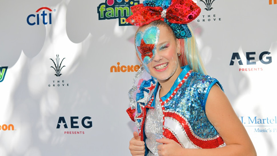 LOS ANGELES, CALIFORNIA - OCTOBER 05: JoJo Siwa attends T.J. Martell Foundation's 10th Annual LA Family Day at The Grove on October 05, 2019 in Los Angeles, California.