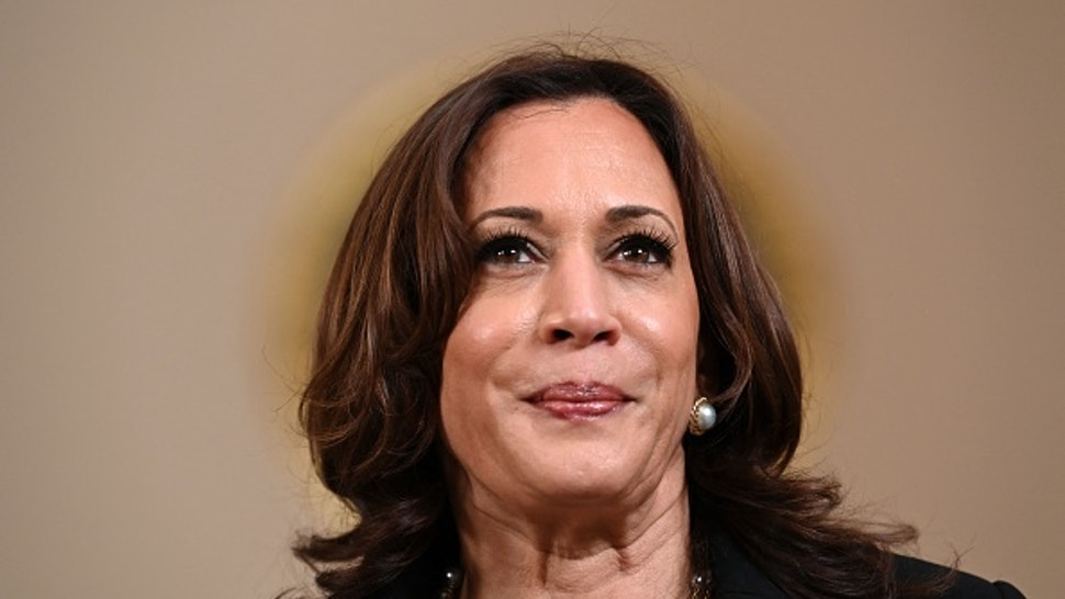 Vice President Kamala Harris delivers remarks on the guilty verdict against former policeman Derek Chauvin at the White House in Washington, DC, on April 20, 2021. - Derek Chauvin, a white former Minneapolis police officer, was convicted on April 20 of murdering African-American George Floyd after a racially charged trial that was seen as a pivotal test of police accountability in the United States.