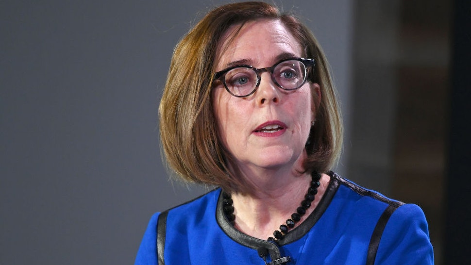 WASHINGTON, DC - FEBRUARY 22: Oregon Governor Kate Brown speaks at the Axios News Shapers event on the U.S. education system on February 22, 2019 in Washington, DC. (Photo by Shannon Finney/Getty Images)