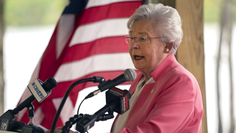 Governor Kay Ivey spoke at the Alabama State Parks Foundation Capital Campaign Kick-off Thursday April 14, 2021 at Oak Mountain State Park in Pelham, Ala.