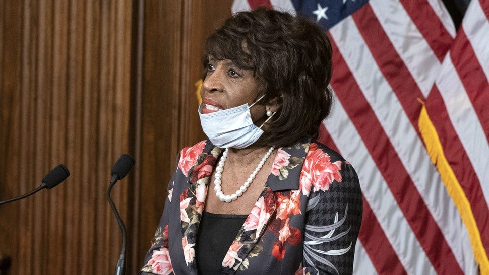 Representative Maxine Waters, a Democrat from California, speaks while participating in a signing ceremony of H.R. 266, The Paycheck Protection Program and Health Care Enhancement Act, in the Rayburn Room of the U.S. Capitol in Washington, D.C., U.S., on Thursday, April 23, 2020. The House overwhelmingly passed and sent to PresidentDonald Trumpa $484 billion coronavirus aid package, even as members are already at odds over the next phase of rescue legislation.