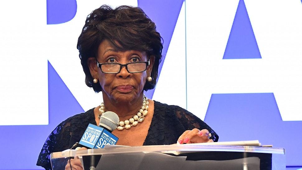 ATLANTA, GA - SEPTEMBER 22: Congresswoman Maxine Waters speaks onstage during A Celebration of Women For Abrams at The Gathering Spot on September 22, 2018 in Atlanta, Georgia.