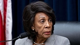 Representative Maxine Waters, a Democrat from California and chairwoman of the House Financial Services Committee, listens during a hearing with Steven Mnuchin, U.S. Treasury secretary, not pictured, in Washington, D.C., U.S., on Thursday, Dec. 5, 2019. Mnuchin said he and the Federal Reserve Chairman dont expect the U.S. to create a digital currency.
