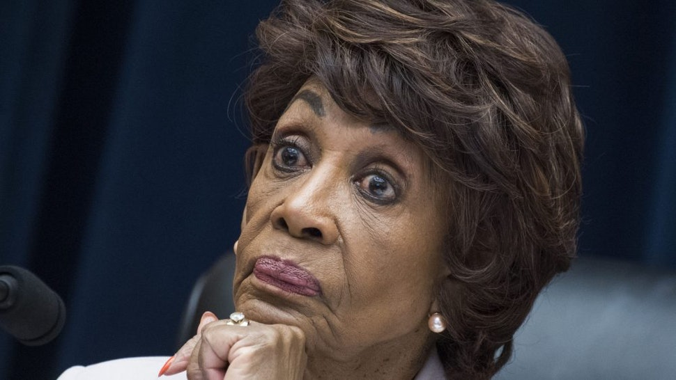 """UNITED STATES - JULY 17: Chairwoman Maxine Waters, D-Calif., conducts a House Financial Services Committee hearing in Rayburn Building titled """"Examining Facebook's Proposed Cryptocurrency and Its Impact on Consumers, Investors, and the American Financial System,"""" on Wednesday, July 17, 2019."""