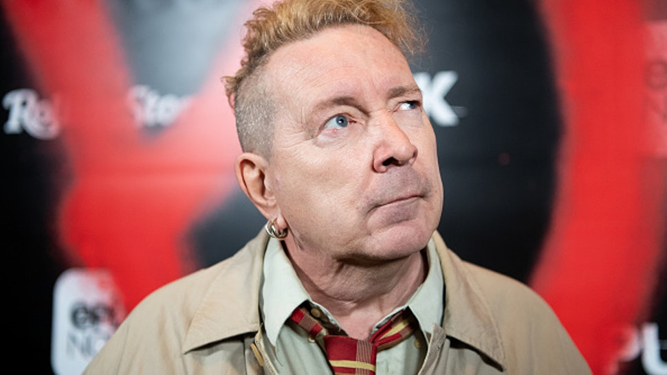 """LOS ANGELES, CALIFORNIA - MARCH 04: John Lydon aka Johnny Rotten arrives at the premiere of Epix's """"Punk"""" at SIR on March 04, 2019 in Los Angeles, California."""