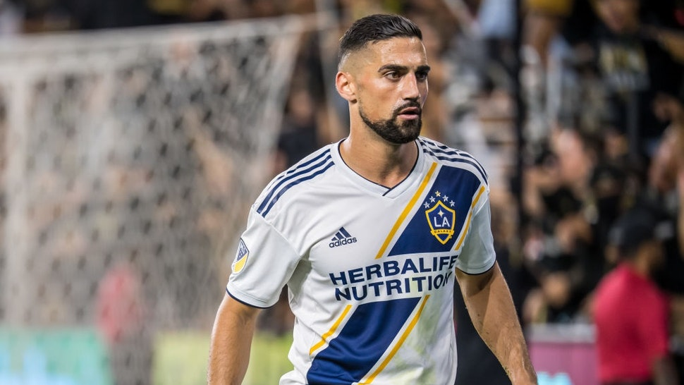 LOS ANGELES, CA - OCTOBER 24: Sebastian Lletget #17 of Los Angeles Galaxy during the MLS Western Conference Semi-final between Los Angeles FC and Los Angeles Galaxy at the Banc of California Stadium on October 24, 2019 in Los Angeles, California.