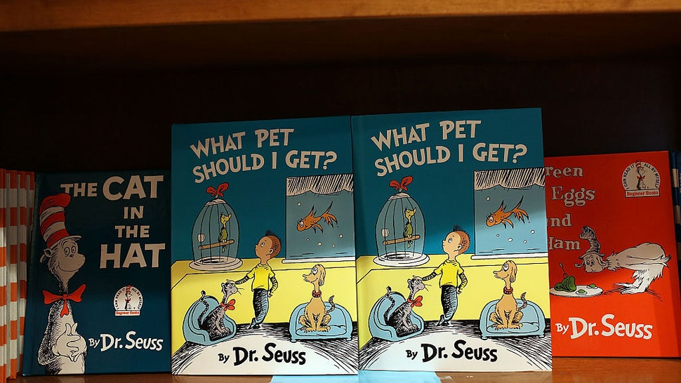"""CORAL GABLES, FL - JULY 28: Dr. Seuss' never-before-published book, """"What Pet Should I Get?"""" is seen on display on the day it is released for sale at the Books and Books store on July 28, 2015 in Coral Gables, United States. The manuscript by the author Theodor Geisel is reported to have been written in the 1950s or 1960s and stashed away in his office until his widow found it in 2013. (Photo by Joe Raedle/Getty Images)"""