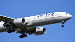 The Boeing 777 to the United Airlines company. Fiumicino (Rome), 19 March, 2021