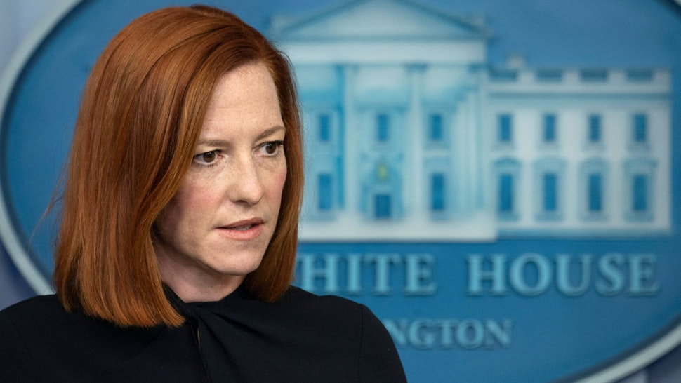 White House Press Secretary Jen Psaki speaks during the daily press briefing on April 1, 2021, in the Brady Briefing Room of the White House in Washington, DC.