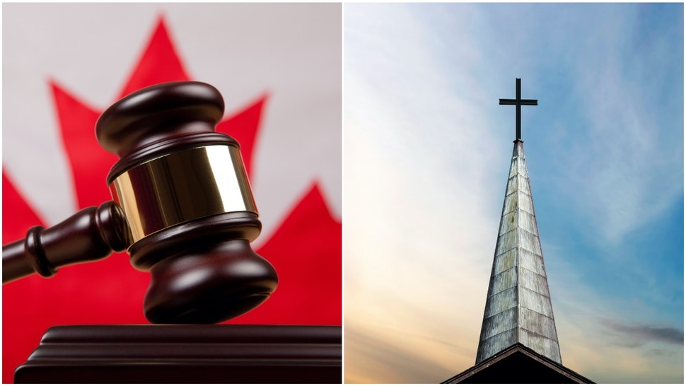 Canada court and steeple