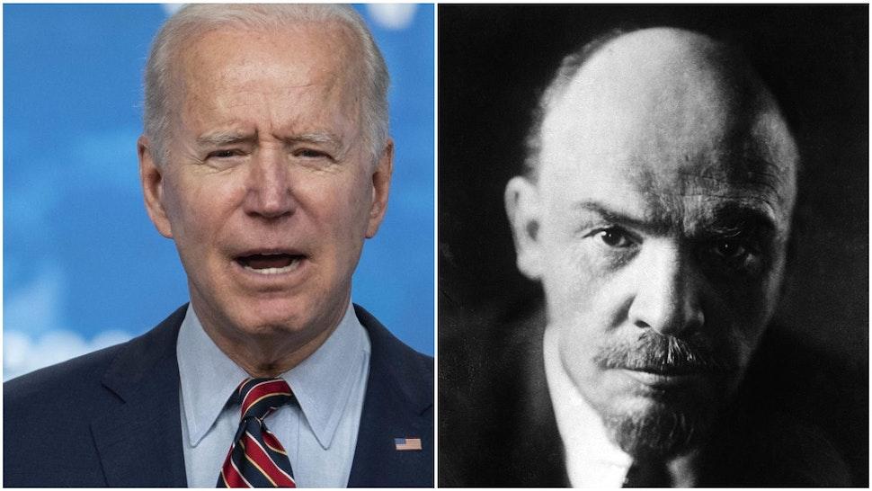 Joe Biden and Vladimir Lenin