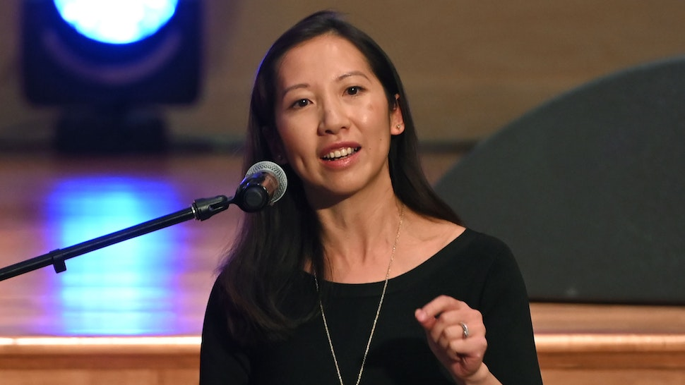 BALTIMORE, MARYLAND - OCTOBER 25: Dr. Leana Wen speaks during the funeral services for late U.S. Representative Elijah Cummings (D-MD) at the New Psalmist Baptist Church October 25, 2019 in Baltimore, Maryland. A sharecropper's son who rose to become a civil rights champion and the chairman of the powerful House Oversight and Government Reform Committee, Cummings died last week of complications from longstanding health problems at the age of 68.