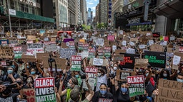 Thousands gathered in New York's Times Square for a demonstration organized by Black Lives Matter Greater New York.