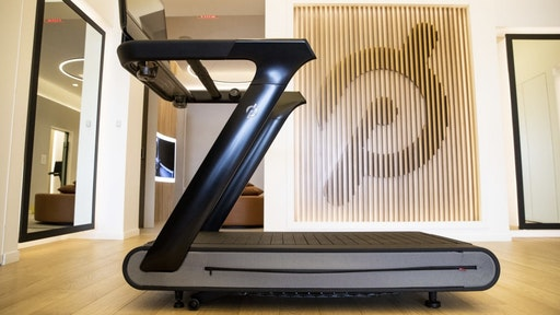 A Peloton Interactive Inc. Tread exercise machine for sale at the company's showroom in Dedham, Massachusetts, U.S., on Wednesday, Feb. 3, 2021. Peloton Interactive Inc. is scheduled to release earnings figures on February 4. Photographer: Adam Glanzman/Bloomberg