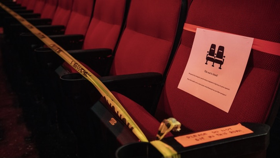 Empty Cinema Seats - stock photo Cinema seats in Louisiana, U.S. Photographer: Bryan Tarnowski/Bloomberg Bloomberg Creative via Getty Images