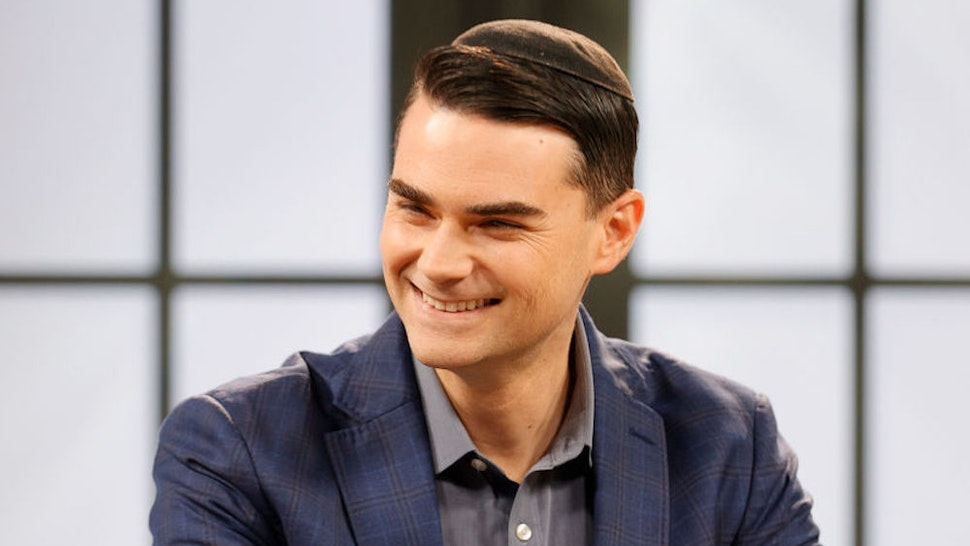 """NASHVILLE, TENNESSEE - MARCH 17: American commentator Ben Shapiro is seen on set during a taping of """"Candace"""" on March 17, 2021 in Nashville, Tennessee. The show will air on Friday, March 19, 2021. (Photo by Jason Kempin/Getty Images)"""