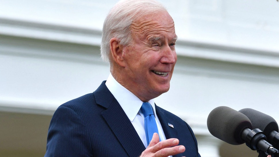US President Joe Biden delivers remarks on Covid-19 response and the vaccination program, from the Rose Garden of the White House, Washington, DC on May 13, 2021.