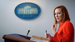 WASHINGTON, DC - MAY 12: White House Press Secretary Jen Psaki speaks during the daily press briefing at the White House on May 12, 2021 in Washington, DC. The majority of the briefing focused on the ransomware attack on the Colonial Pipeline. More than three-quarters of gas stations in some southern U.S. cities have run out of gasoline as the pipeline shutdown stretches into a fifth day. (Photo by Drew Angerer/Getty Images)