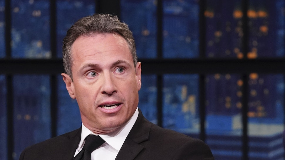 LATE NIGHT WITH SETH MEYERS -- Episode 867 -- Pictured: (l-r) CNN's Chris Cuomo during an interview with host Seth Meyers on August 1, 2019 -- (Photo by: Lloyd Bishop/NBC/NBCU Photo Bank)