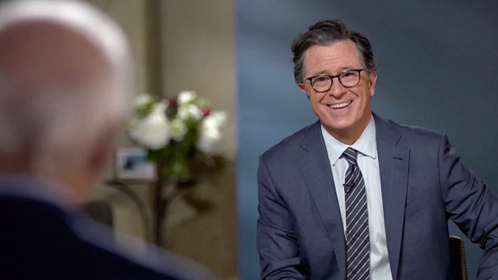 NEW YORK - DECEMBER 17: A Late Show with Stephen Colbert and guests President-elect Joseph R. Biden and Dr. Jill Biden during Thursdays December 17, 2020 show. Image is a screen grab.