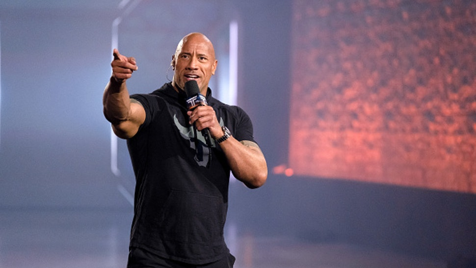 THE TITAN GAMES -- West Region 2: The True Meaning of a Titan Episode 206 -- Pictured: Dwayne Johnson --