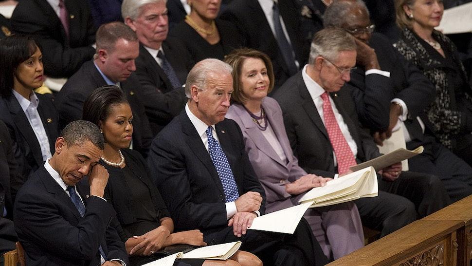 Pelosi and Biden at church