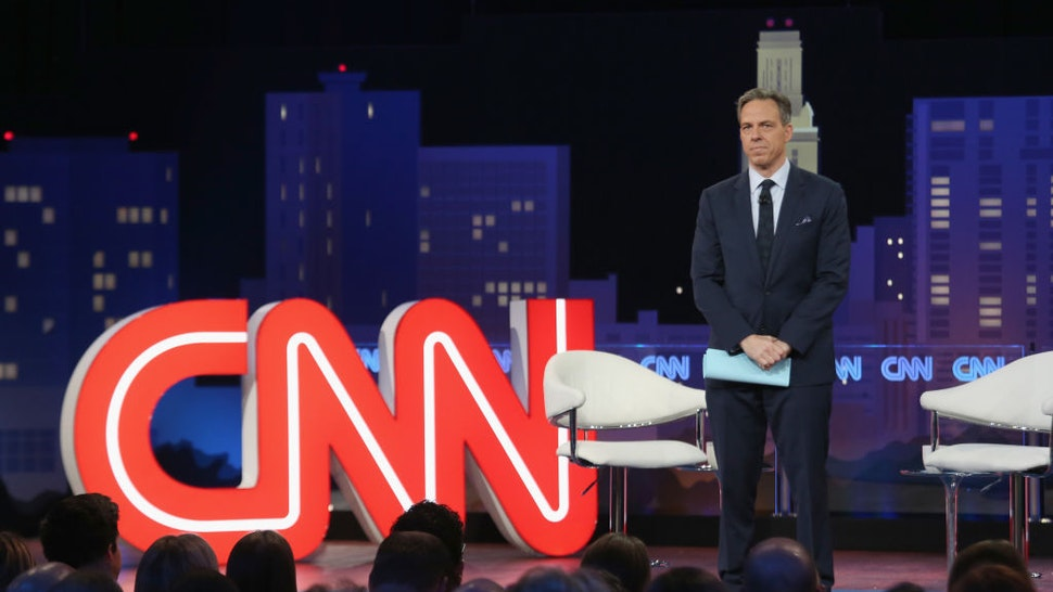 AUSTIN, TEXAS - MARCH 10: Jake Tapper speaks during the 'CNN Democratic Town Hall' at ACL Live at The Moody Theater during the 2019 SXSW Conference And Festival on March 10, 2019 in Austin, Texas. (Photo by Gary Miller/FilmMagic)