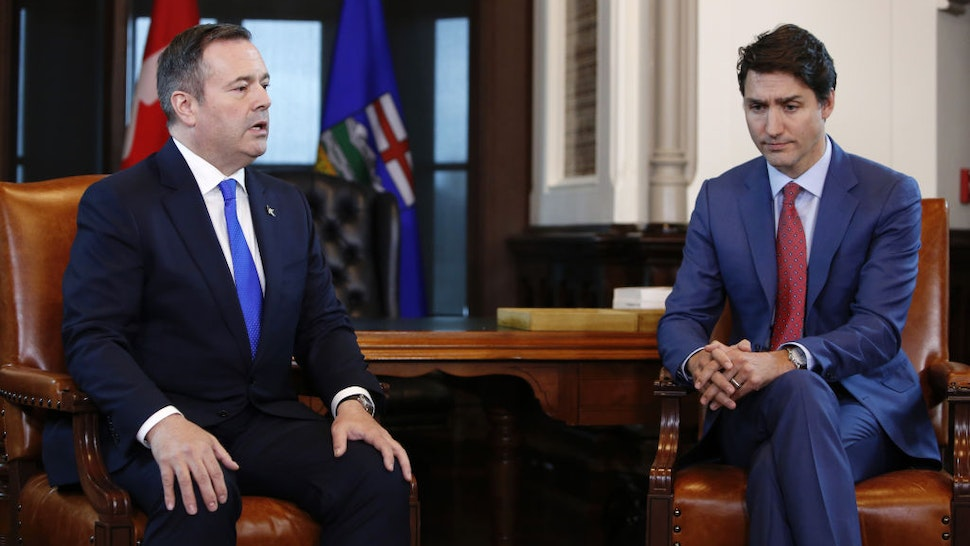 Prime Minister Justin Trudeau Meets With Premier Of Alberta Jason Kenney