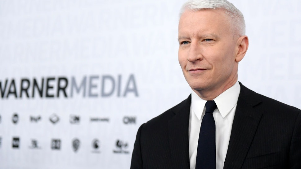 NEW YORK, NEW YORK - MAY 15: Anderson Cooper of CNN's Anderson Cooper 360° attends the WarnerMedia Upfront 2019 arrivals on the red carpet at The Theater at Madison Square Garden on May 15, 2019 in New York City. 602140 (Photo by Mike Coppola/Getty Images for WarnerMedia)