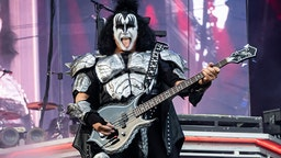 OSLO, NORWAY - JUNE 27: Gene Simmons of Kiss on stage at the Tons of Rock festival on June 27, 2019 in Oslo, Norway. (Photo by Per Ole Hagen/Redferns)