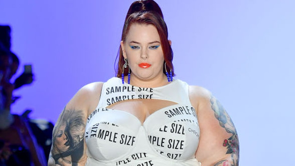 Tess Holliday walks the runway for Chromat Spring/Summer 2020 during New York Fashion Week: The Shows at Gallery I at Spring Studios on September 07, 2019 in New York City.