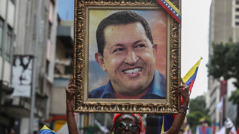 Nicolas Maduro Supporters March In Caracas
