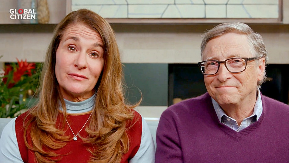 """UNSPECIFIED LOCATION - APRIL 18: In this screengrab, (L-R) Melinda Gates and Bill Gates speak during """"One World: Together At Home"""" presented by Global Citizen on April, 18, 2020. The global broadcast and digital special was held to support frontline healthcare workers and the COVID-19 Solidarity Response Fund for the World Health Organization, powered by the UN Foundation."""