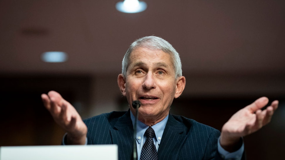 WASHINGTON, DC - JUNE 30: Dr. Anthony Fauci, director of the National Institute of Allergy and Infectious Diseases, speaks during a Senate Health, Education, Labor and Pensions Committee hearing on June 30, 2020 in Washington, DC. Top federal health officials discussed efforts for safely getting back to work and school during the coronavirus pandemic.
