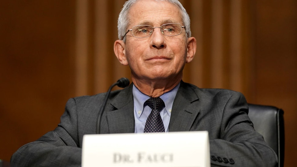 Dr. Anthony Fauci, director of the National Institute of Allergy and Infectious Diseases, speaks during a Senate Health, Education, Labor and Pensions Committee hearing to discuss the ongoing federal response to COVID-19 on May 11, 2021 in Washington, DC.