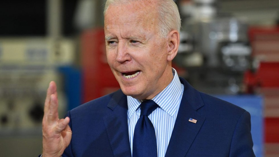 US President Joe Biden speaks on the economy at Cuyahoga Community College Manufacturing Technology Center, on May 27, 2021, in Cleveland, Ohio.
