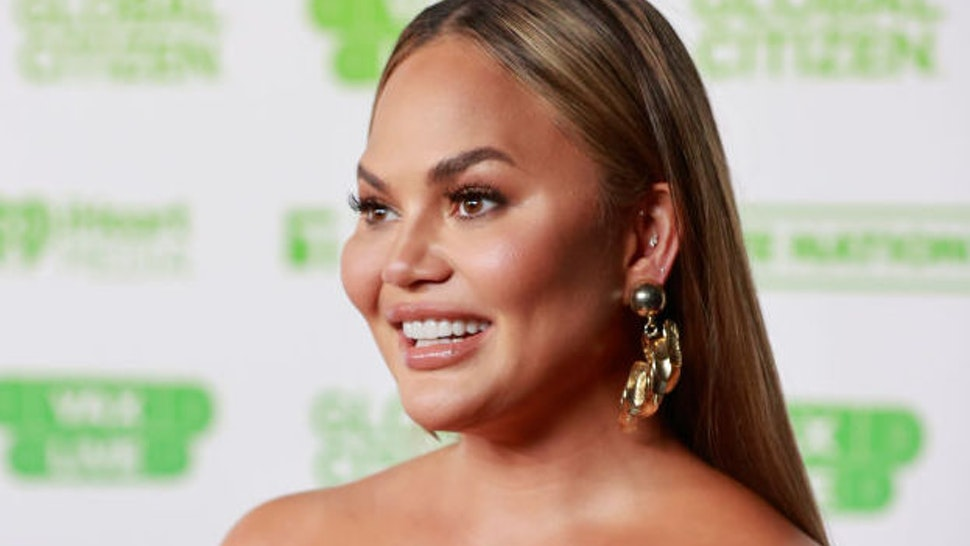 In this image released on May 2, Chrissy Teigen attends Global Citizen VAX LIVE: The Concert To Reunite The World at SoFi Stadium in Inglewood, California.